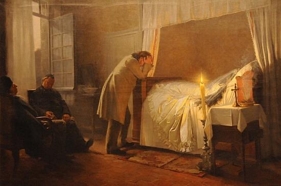 La muerte de Madame Bovary de  Albert-Auguste Fourie.