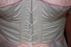 The decorated boning channels and underbust cording