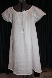 The chemise complete, looking a bit more roomy than the last one.
