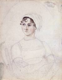 A watercolour painting of Jane Austen, by Cassandra Austen