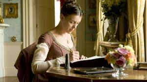 Olivia as Jane Austen, in Miss Austen Regrets (2008).