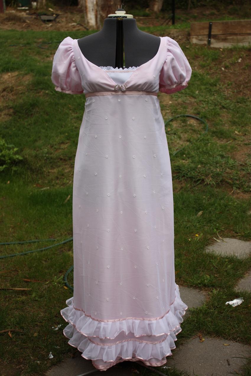Making a Regency net gown | Tea in a Teacup