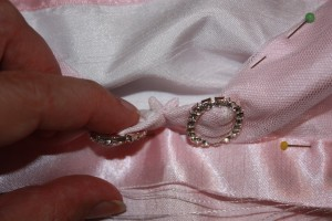 The centre front seam is only small, and the seam allowance can be handsewn flat if desired.