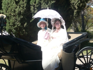 My sister and I in the horse and carriage.