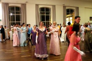 My sister and I dancing on Saturday night's Grand Napoleonic Ball!