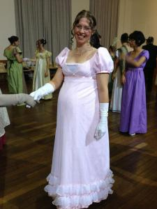 My latest ballgown and my entry into the 1813 Costume Competition.