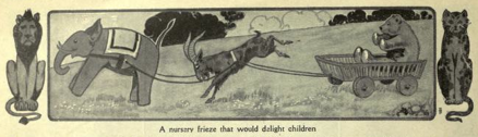 """A nursery freize that would delight children."" Source: Every Woman's Encyclopaedia, Vol I."
