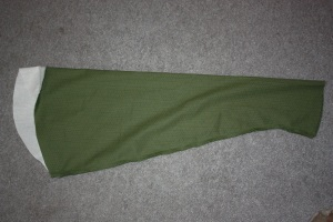 The sleeve head sewn to the sleeve.
