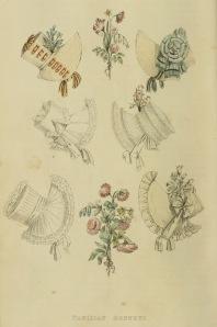 """Parisian Bonnets"" from Ackermann's Repository (1817)"