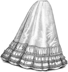 A gored petticoat, c. 1896.