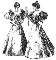 Evening gowns from the 1890's