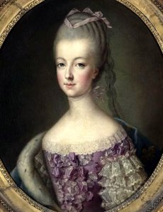 Marie Antoinette, the Dauphine of France (1773), by François-Hubert Drouais.