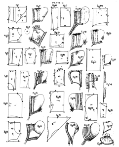 Patterns for caps; from The Workwoman's Guide to