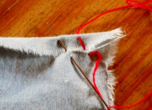 Doing a rolled hem; by Hub Pages