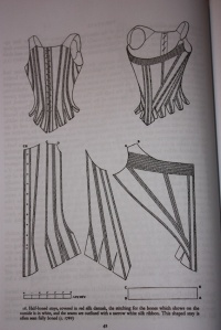 A pattern for 1780's stays, from Corsets and Crinolines, by Norah Waugh.
