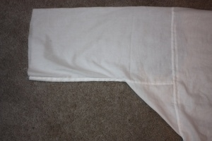The sleeve with the gusset, all sewn to the main body.