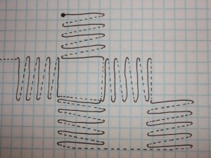 This stitch is worked in sets diagonally.