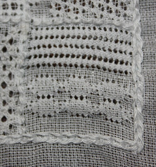 The top stitch is . The bottom stitch is.