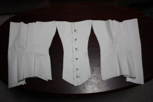 The only seams not sewn are the side front seams.