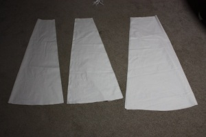 These are my panels; from left to right, front, side and back.