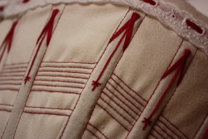 The corset flossing detail