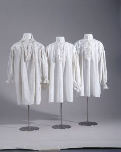 18th century linen shirts, from