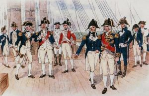 The uniforms of the British Royal Navy.