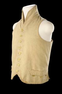 A waistcoat from the uniform of a British naval officer, c. 1807