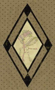 "One of the stitcheries from the ""Jane Austen's Bonnet"" quilt."