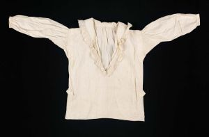 A boy's shirt, American, late 18th century. From the Museum of Fine Arts.
