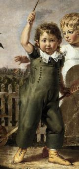 "Detail of ""The Hulsenbeck Children"" painting, by Philipp Otto Runge in 1805-06."