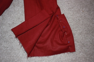On the other side to the button placket, is a small piece of material used as reinforcement for the buttonholes.