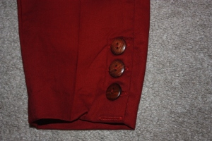 The button placket complete.
