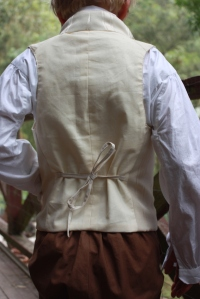 The back view, with a tie to bring in the fullness.