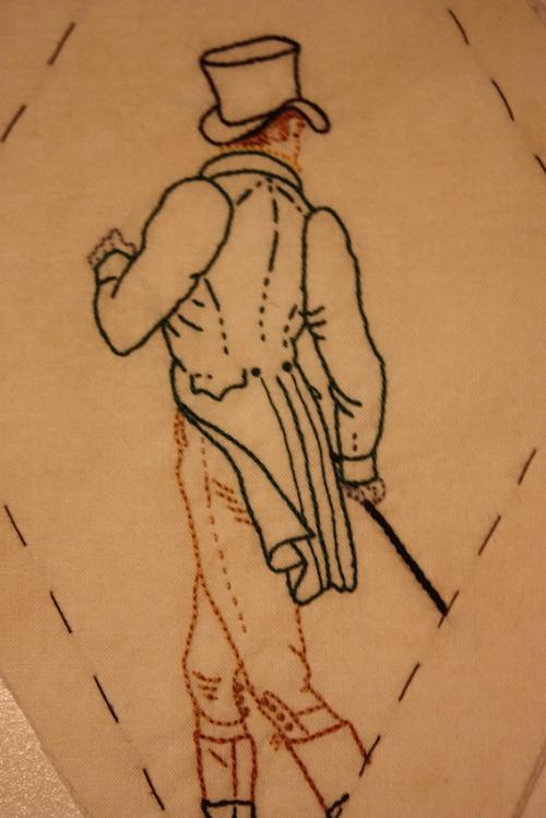 Mr Bingley, embroidered
