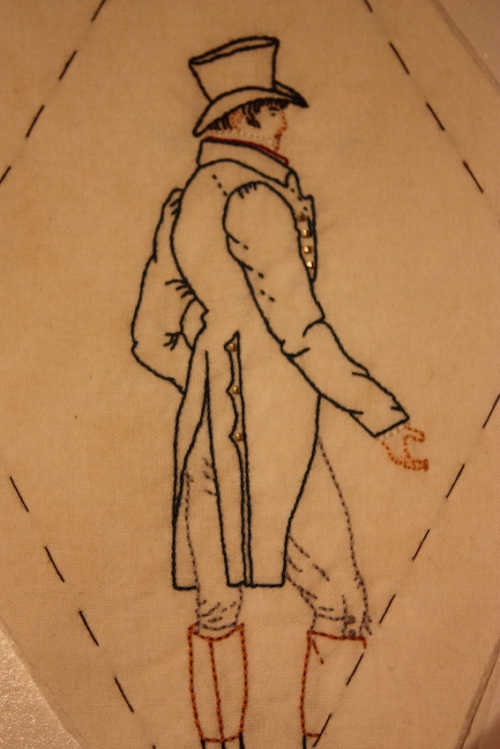 Mr Darcy, embroidered