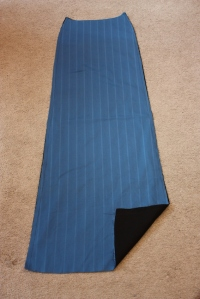 The front panel of the skirt, flat-lined with cotton broadcloth.