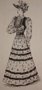 Ladies' Street Costume, Summer 1893, from Authentic Victorian Fashion Patterns.