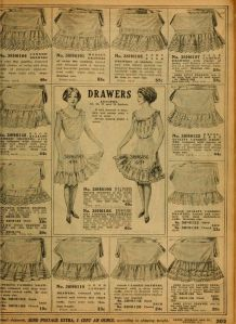An advertisement in the Sears catalogue for drawers. 1912