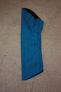 The sleeve seams are sewn.