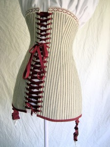 The 1911 corset reproduction, made by Bridges on the Body.