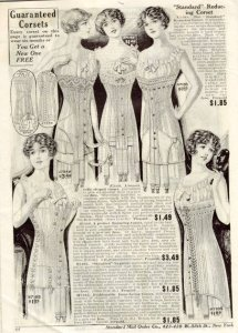 An advertisement for corsets in 1912.