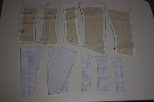 The pattern for the bodice