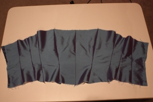 The bodice panels are all sewn together.