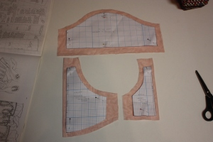The pattern for the net undersleeves.