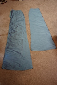 The underskirt (with train) is cut out.