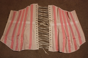 The complete corset from the inside.