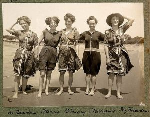 Women on Collaroy Beach, NSW.