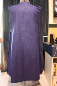 bathing dress construction back